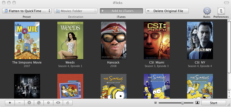 Manage your Video Collection with iTunes | iFlicks